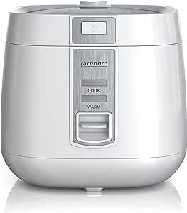 Arendo 电饭锅   蒸锅 蒸汽烹饪功能 1.4升容量   过热保护 + 保温   自动保温功能   隔热双壁设计   GS 检测印章