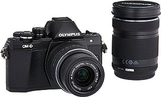 Olympus OM-D E-M10 Mark II 無鏡 Micro 4/3 數碼相機,帶 14-42mm 和 40-150mm 鏡片(黑色)