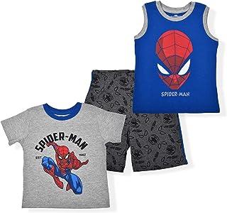 Marvel 男孩 3 件衬衫和短裤套装,复仇者*英雄