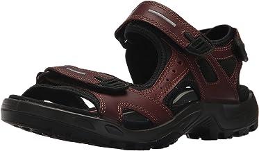 Ecco 愛步男式夏季透氣皮涼鞋Yucatan-M 潮鞋厚底沙灘鞋越野鞋