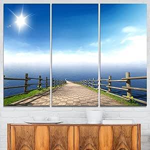 """设计艺术 蓝色 36x28"""" - 3 Panels PT9431-3P"""