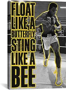 icanvasart 10021浮动 LIKE A 蝴蝶 sting LIKE A Bee 油画印刷品