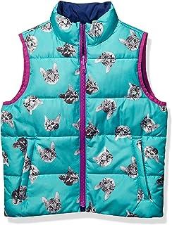 亚马逊品牌 - 斑点斑马女孩双面羽绒背心