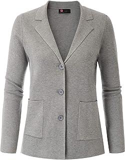 女式长袖休闲西装工作办公室商务夹克带口袋