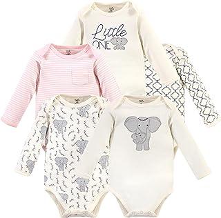 Touched by Nature 婴儿*长袖连体衣 5 件装,粉色大象