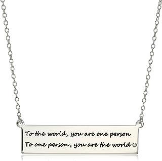 Amazon Collection 亚马逊自有品牌 女士 素银吊坠项链 R0A5Q0HH1Z
