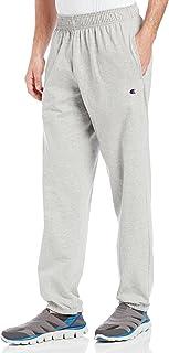 Champion 男士底部收口輕質平紋針織運動褲