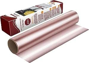 Firefly 工艺弹性铝箔热转印乙烯基剪影和摩擦,30.48 厘米 x 50.8 厘米 玫瑰金 1 sheet