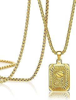 Joycuff 项链女士男士个性化吊坠项链可爱精致独特时尚手工方形不锈钢首饰送给少女的礼物