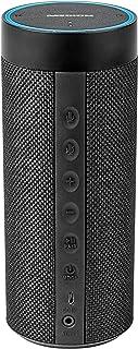Medion Life P61110 MD 43631 便携式无线扬声器(带亚马逊 Alexa 智能家居 远程语音识别 多房间 蓝牙 通过 APP 控制 内置电池)黑色