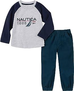 Nautica 诺帝卡男孩 2 件套长裤套装