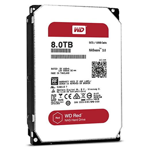 西部数据/WD 8TB 红盘 WD80EFZX~