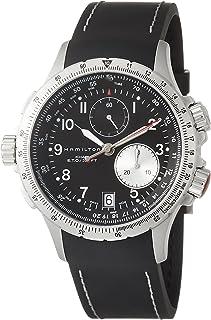 Hamilton 男士 H77612333 卡其色 ETO 不锈钢手表黑色橡胶表带