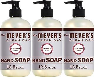 Mrs。Meyer 's Clean Day Hand Soap、薰衣草/淡紫色 12.5 FL OZ Lavender 12.5 fl oz (3ct) 37.5
