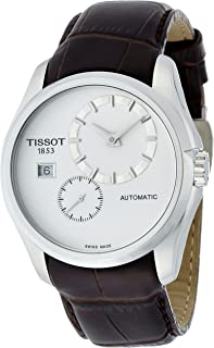 Tissot Couturier 白色表盘不锈钢自动男式手表 T0354281603100