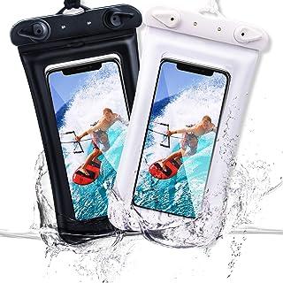 防水手机袋浮动,IPX8 通用防水手机袋保护套手机干燥袋适用于 iPhone 11 Pro Max XS Max XR X 8 7 6S Plus 三星 Galaxy s10/s9 Google Pixel 2 HTC Up 至 7.0 英寸,2 件装