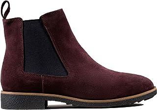 Clarks Griffin Plaza Burgundy 绒面革短靴