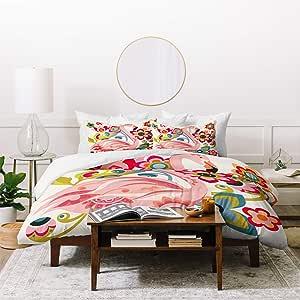 Deny Designs 羽绒被套装,含两个枕套 粉红色 Queen/Full 50745-dvwseq