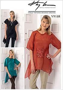 Vogue pattern V9188 多色 Y (XSM-SML-MED) V91880Y0