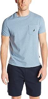 Nautica 男士纯色圆领短袖口袋 T 恤