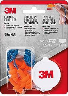 3M 90716-80025T 有线耳塞,可重复使用,三对,带保护套