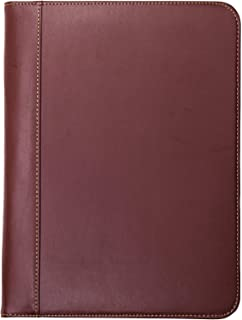 Samsill Contrast Stitch Leather Padfolio ?? Lightweight & Stylish Business Portfolio for Men & Women ?? Resume Portfolio, 8.5 x 11 Writing Pad, Tan/Brown