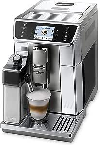 De'Longhi 德龙 PrimaDonna Elite ECAM 656.55.MS 全自动咖啡机(3.5英寸(8.89厘米) TFT彩色显示屏, 一体式加奶系统, APP 控制, 不锈钢立面, 双杯咖啡冲泡功能) 银色