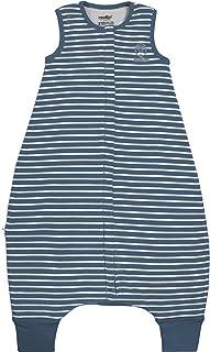 Woolino 4 Season Baby Sleep Bag with feet, Merino Wool Walker Sleep Bag or Sack, 0-3 Years 深藍色 6-18mo