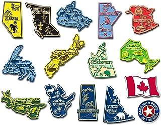 加拿大省磁铁 Complete Canadian State Magnets Set