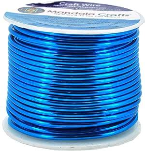 Mandala Crafts 12 14 16 18 20 22 规格阳极氧化首饰制作串珠花卉彩色铝工艺线 Bondi 蓝色 12 Gauge B00O13YREC