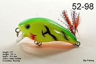 """akuna 3.5"""" 浅潜水消防员彩色曲柄饵鱼饵鲈鱼和鳟鱼"""