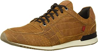 MARC JOSEPH 纽约男式皮革巴西制造豪华时尚运动鞋 Croco 细节运动鞋