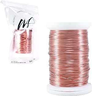 Wire 花式耐锈镀银铜和铜首饰制作线 Bulk Copper 100 grams 26 Gauge WF0001