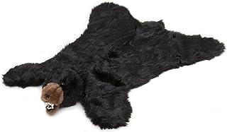 Carstens 毛绒黑色熊动物地毯,L 码 大 BR101