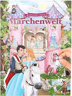 Depesche 11066 绘画书,带贴纸,创造您的童话,约 33 x 25 x 0.5 厘米