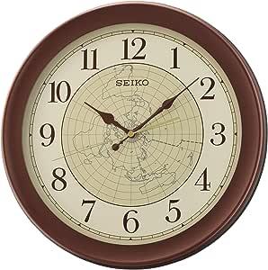 Seiko 精工挂钟,塑料,棕色,36.8 x 36.8 x 4.3 厘米