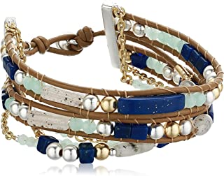Lucky Brand Jewelry Seastone 串珠手链,色调,双色,均码 (JWEL3727)