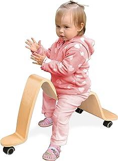 Wave 木质滑板车 - 实木 - 骑自行车车轮四向移动!