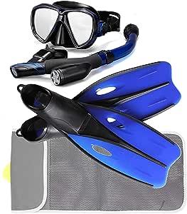 P+Co *管/古巴潜水面罩和长鳍套装,网袋装备套装 - 成人运动、面具、脚蹼和旅行包