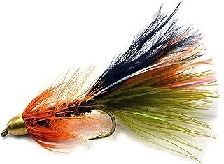 薄荷流线飞行钓鱼飞行 - 锥形头 - 加重 - Mustad 签名挂钩 - 1 打钩 #6、8 或各种 - 鳟鱼飞行