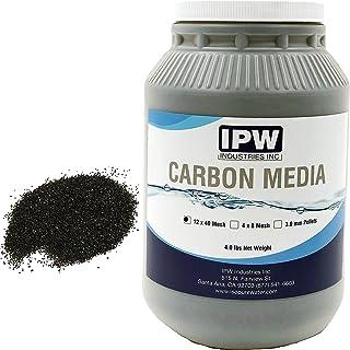 IPW Industries Inc 4磅散装净水器/空气过滤器补充装椰壳颗粒活性炭炭炭罐装