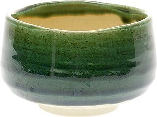 Kotobuki Matcha Chawan 日本茶碗,缎面黑,带红色禅刷设计