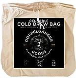 *棉冷酿咖啡袋 - 加利福尼亚设计 - 超大 30.48 厘米 x 30.48 厘米可重复使用的过滤器袋,配有易开拉绳,可在水壶或梅森罐中制冷酿 象牙色 4335458588