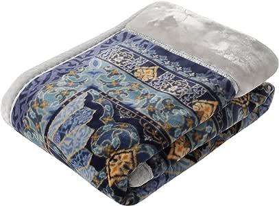 东京西川 拼接毯 光滑的玫瑰油加工 空气饱满 美型 亚洲风 日本制造 藏青色 シングル FQ07510010NV