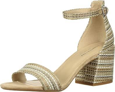 Kenneth Cole New York 女士 Hannon 粗跟凉鞋带踝带 天然 6 M US