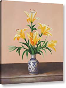 """Tremont Hill Welby """"Peach Lilies""""画廊装裱地板框油画,36X48"""