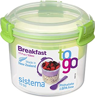 Sistema To Go 系列早餐碗食品保鲜盒 透明 长方形的 9414202213556