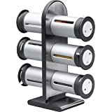 Zevro KCH-06094 Zero Gravity 6-Canister Magnetic Spice Stand