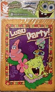 Spongebob Squarepants Luau Party Invitations