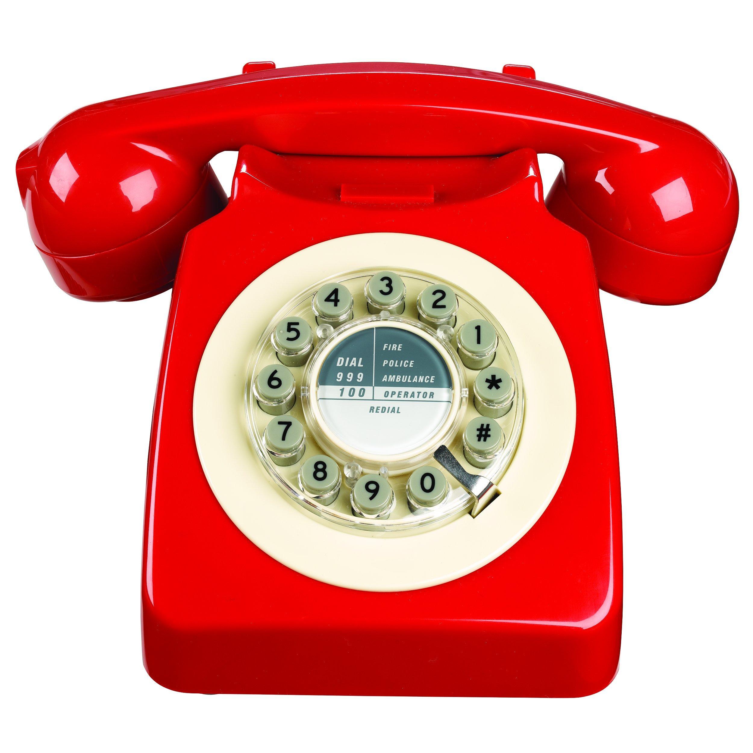 746のレプリカ電話1960古典的なデザイン - 赤いボックスのサイズレッド